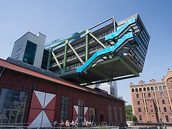 Modern architecture of Ogilvy advertising agency at Medienhafen or Media Harbour property development in Düsseldorf Germany