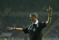 Photo: Andrew Unwin.<br />Newcastle United v Mansfield Town. The FA Cup.<br />07/01/2006.<br />The referee, Andy D'Urso.