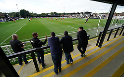 Spectators watch the action between the Head for Change and the Solan Connor Fawcett Trust charity match at Spennymoor Town FC, County Durham. Picture date: Sunday September 26, 2021.