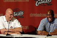 Cleveland Cavaliers General Manager Danny Ferry, left, and head coach Mike Brown.