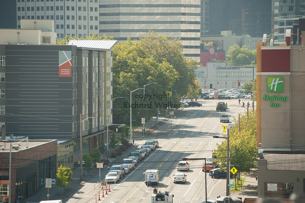 2017 SEPTEMBER 22 - View of Dexter Ave N in South Lake Union area, Seattle, WA, USA. By Richard Walker