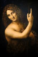 France, Paris, musée du Louvre, Leonard de Vinci, Saint Jean Baptiste // France, Paris, Louvre museum, Leonardo da Vinci, Saint Jean Baptiste