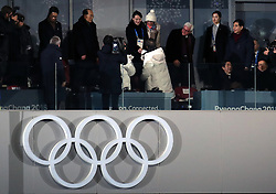 South Korean President Moon Jae (centre) shakes hands North Korea's Kim Yo-jong (sister of North Korean leader Kim Jong-un) with during the Opening Ceremony of the PyeongChang 2018 Winter Olympic Games at the PyeongChang Olympic Stadium in South Korea.