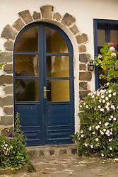 South America, Ecuador, Imbabura Province, Zuleta, doors of hacienda