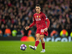 LIVERPOOL, ENGLAND - Wednesday, March 11, 2020: Liverpool's Trent Alexander-Arnold during the UEFA Champions League Round of 16 2nd Leg match between Liverpool FC and Club Atlético de Madrid at Anfield. (Pic by David Rawcliffe/Propaganda)