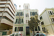 Israel, Tel Aviv, Renovated Bauhaus building at 48 Ehad Haam Street UNESCO has declared Tel Aviv an international heritage due to the abundance of the Bauhaus architectural style