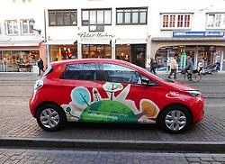 Germany, Freiburg  - November 22, 2018.Street scene with Electric Car (Credit Image: © Antonio Pisacreta/Ropi via ZUMA Press)