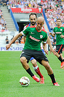 Atletico de Madrid´s Juanfran and Athletic Club´s Mikel Rico during 2014-15 La Liga match between Atletico de Madrid and Athletic Club at Vicente Calderon stadium in Madrid, Spain. May 02, 2015. (ALTERPHOTOS/Luis Fernandez)