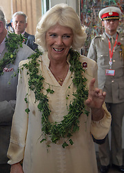 The Duchess of Cornwall during a visit to the Jamestown Cafe in Accra, Ghana, on day four of her trip to west Africa with the Prince of Wales.