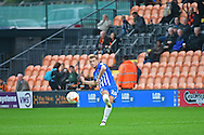 Hartlepool Scott Harrison (26) clears the ball during the EFL Sky Bet League 2 match between Barnet and Hartlepool United at Underhill Stadium, London, England on 29 October 2016. Photo by Jon Bromley.