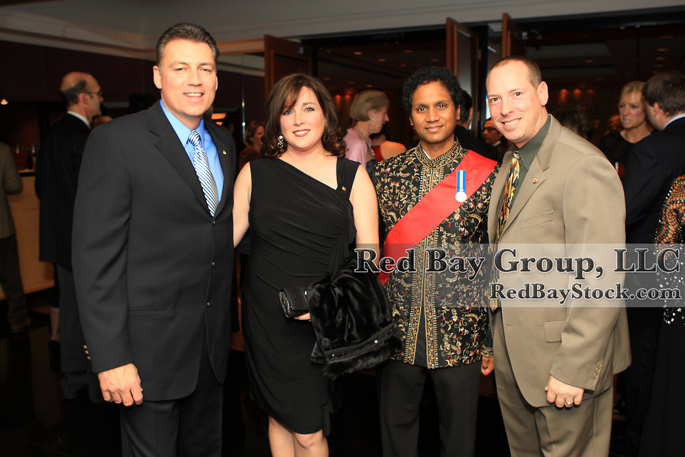 Mike Arbour, Cheryl Tataryn, Akaash Maharaj and Craig Andreas at the 2009 Canadian Eventing Hall of Fame Gala in Toronto, Ontario.