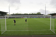 Ground view with ground staff working before kick off during the UEFA European Under 17 Championship 2018 match between Netherlands and Spain at the Pirelli Stadium, Burton upon Trent, England on 8 May 2018. Picture by Mick Haynes.
