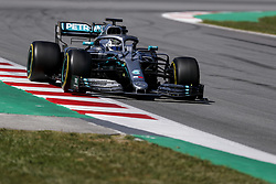 May 14, 2019 - Montmelo, Spain - VALTTERI BOTTAS of Mercedes AMG Petronas Motorsport during the Formula 1 in season testing at Circuit de Barcelona-Catalunya in Montmelo, Spain. (Credit Image: © James Gasperotti/ZUMA Wire)
