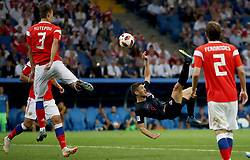 SOCHI, July 7, 2018  Andrej Kramaric (2nd R) of Croatia competes during the 2018 FIFA World Cup quarter-final match between Russia and Croatia in Sochi, Russia, July 7, 2018. (Credit Image: © Wu Zhuang/Xinhua via ZUMA Wire)