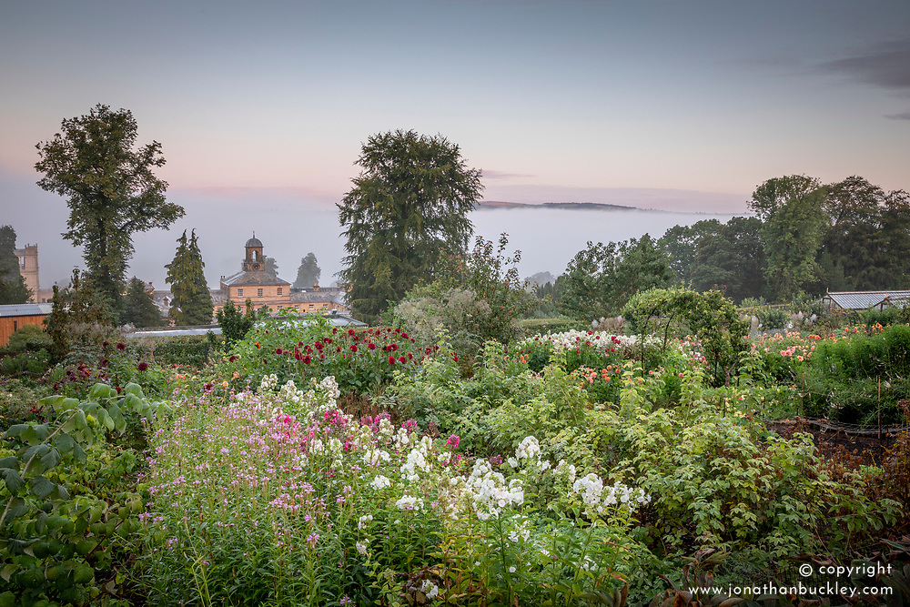 Dawn in the cutting garden at Chatsworth House