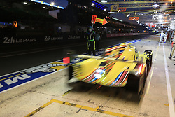 June 18, 2017 - Le Mans, Sarthe, France - ARC Bratislava ORECA 07 rider KONSTANTINS CALKO.(LVA) in the pit lane for refueling during the race of the 24 hours of Le Mans on the Le Mans Circuit - France (Credit Image: © Pierre Stevenin via ZUMA Wire)