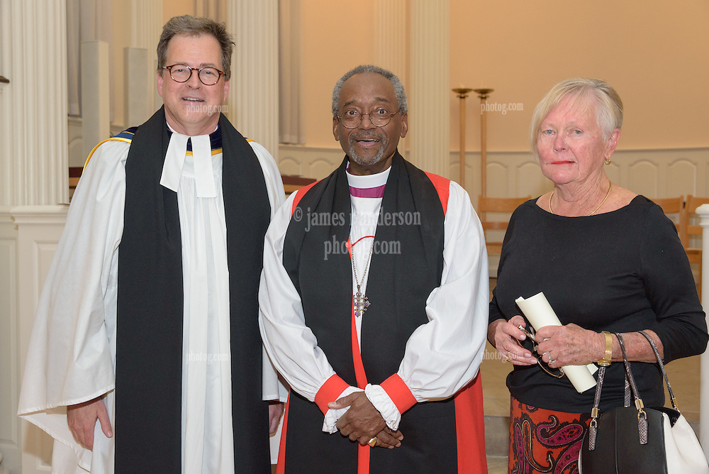 Bishop Michael B. Curry, Dean Andrew McGowan. A Service of Evensong Together with the Conferral of Honorary Degrees. 20 October 2015. Berkeley Divinity School at Yale University.