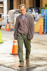 Jude Law walks to the Woody Allen set in NYC. 19 Oct 2017 Pictured: Jude Law. Photo credit: ZapatA/MEGA TheMegaAgency.com +1 888 505 6342
