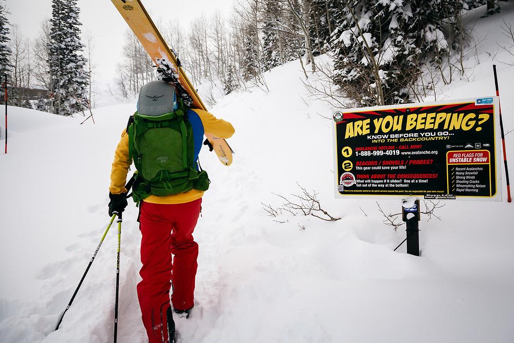 Mark Kogelmann heading into the Wasatch backcountry February 2014.