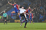 Bolton Wanderers Midfielder, Josh Vela (6) tackled by Crystal Palace Defender, Ezekiel Fryers (19) during the The FA Cup 3rd round match between Bolton Wanderers and Crystal Palace at the Macron Stadium, Bolton, England on 7 January 2017. Photo by Mark Pollitt.