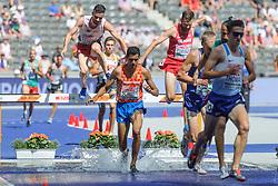 Noah Schutte op de 3000m steeple chase kon zich niet kwalificeren voor de finale bij het EK atletiek in Berlijn op 7-8-2018