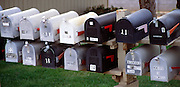 Typical family mail boxes, USA