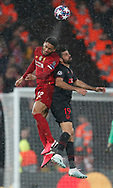 Joe Gomez of Liverpool challenges Diego Costa of Atletico Madrid  during the UEFA Champions League match at Anfield, Liverpool. Picture date: 11th March 2020. Picture credit should read: Darren Staples/Sportimage