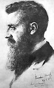 Theodor Herzl (1860-1904) Zionist leader. Convened first Zionist Congress, Basel 1897. Herzl in 1903