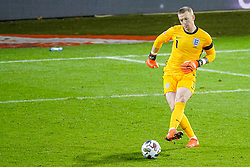 LEUVEN, BELGIUM - Sunday, November 15, 2020: England's Jordan Pickford during the UEFA Nations League Group Stage League A Group 2 match between England and Belgium at Den Dreef. (Pic by Jeroen Meuwsen/Orange Pictures via Propaganda)
