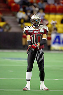 4/12/2007 - J.R. Wells gets ready for the kick off of the first professional football game in Alaska. The Alaska Wild could only score 33 points against the 46 points by the Frisco Thunder.