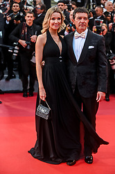 """Antonio Banderas and Nicole Kimpel arrive for the screening of """"Pain And Glory"""" during the 72nd annual Cannes Film Festival on May 17, 2019 in Cannes, France. Photo by Ammar Abd Rabbo/ABACAPRESS.COM"""