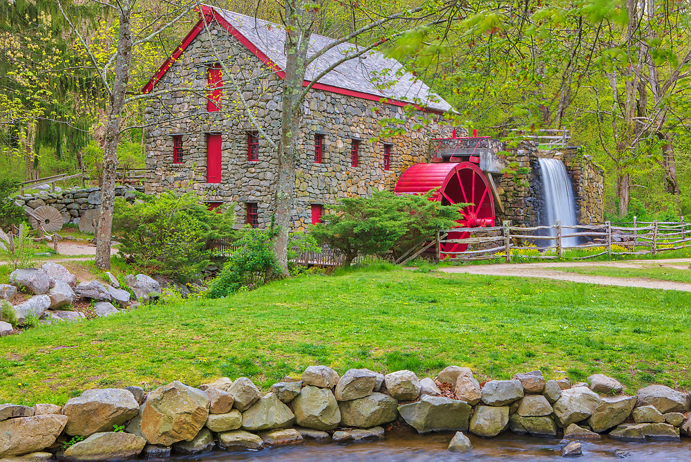 The Sudbury Grist Mill Museum in Sudbury Massachusetts photographed on a beautiful day displaying beautiful New England spring colors. Wayside Inn Grist Mill Massachusetts photography pictures are available as museum quality photo, canvas, acrylic, wood or metal prints. Wall art prints may be framed and matted to the individual liking and interior design decoration needs:<br /> <br /> https://juergen-roth.pixels.com/featured/new-england-spring-colors-at-the-sudbury-grist-mill-juergen-roth.html<br /> <br /> Good light and happy photo making!<br /> <br /> My best,<br /> <br /> Juergen