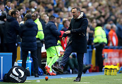 Sheffield Wednesday Manager Carlos Carvalhal kicks a water bottle in anger after a goal is disallowed from his team - Mandatory by-line: Robbie Stephenson/JMP - 13/05/2016 - FOOTBALL - Hillsborough - Sheffield, England - Sheffield Wednesday v Brighton and Hove Albion - Sky Bet Championship Play-off Semi Final first leg