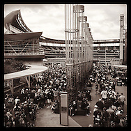 iPhone Instagram of fans waiting in line for the 2014 Home Run Derby at Target Field in Minneapolis, Minnesota on July 14, 2014