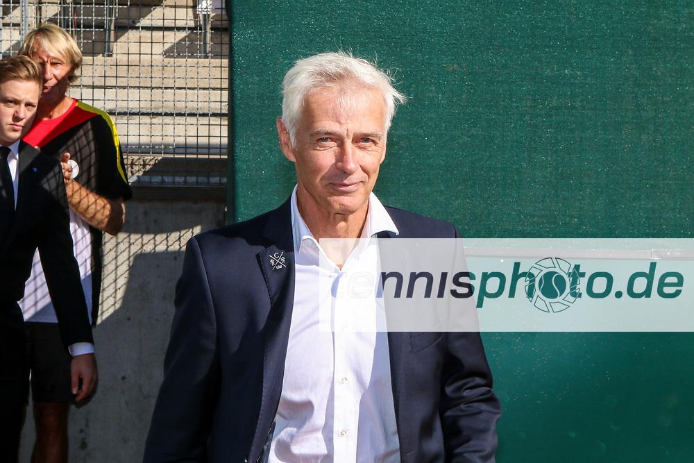Klaus Eberhard, Ehrung ehemaliger Davis Cup Spieler,  Davis Cup Relegation Deutschland vs. Polen, LTTC Rot-Weiss, Berlin, 18.09.2016, Foto: Claudio Gärtner