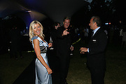 DR. KATIE JONES, ROB HERSOV AND CHARLES FINCH, The Summer Party in association with Swarovski. Co-Chairs: Zaha Hadid and Dennis Hopper, Serpentine Gallery. London. 11 July 2007. <br /> -DO NOT ARCHIVE-© Copyright Photograph by Dafydd Jones. 248 Clapham Rd. London SW9 0PZ. Tel 0207 820 0771. www.dafjones.com.