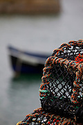 Lobster pots at Ballyconneely, Connemara, Co. Galway, Ireland