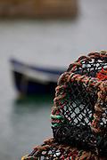 Lobster pots at Ballyconneely, Connemara, Co. Galway, Ireland