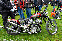Nic Fallberg's custom 1948 Harley-Davidson Panhead at the Twin Club's annual Custom Bike Show in Norrtälje, Sweden. Saturday, June 1, 2019. Photography ©2019 Michael Lichter.