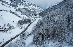 THEMENBILD - Blick über das Glemmtal nach Viehhofen, aufgenommen am 12. Dezember 2018 in Saalbach, Österreich // View of the Glemmtal, Saalbach, Austria on 2018/12/12. EXPA Pictures © 2018, PhotoCredit: EXPA/ JFK
