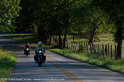 Brian Pease riding his 1938 Nimbus C (in a 52 frame) during the Cross Country Chase motorcycle endurance run from Sault Sainte Marie, MI to Key West, FL (for vintage bikes from 1930-1948). Stage 5 had riders cover 213 miles from Bowling Green, KY to Chatanooga, TN USA. Tuesday, September 10, 2019. Photography ©2019 Michael Lichter.