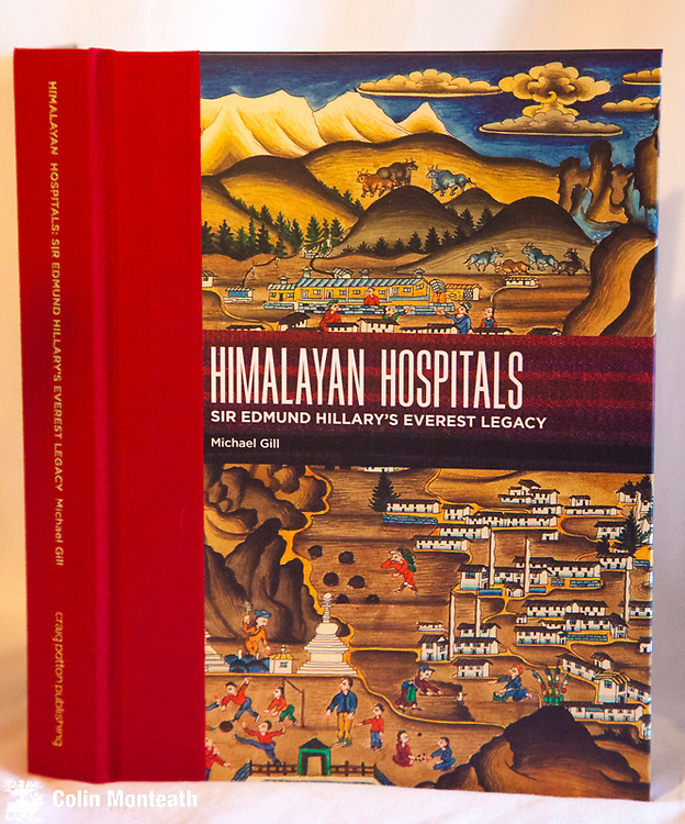 HIMALAYAN HOSPITALS - Sir Edmund Hillary's Everest legacy, SIGNED by Mike Gill, Craig Potton publishing, 1st edn., 2011, large format 470 page hardback, B&W and colour plates, Contributions by 23 husband and wife doctors who each spent two years running the Kunde and other Himalayan Trust hospitals - a sumptuous, delightful book, essential for anyone who has spent tim in the Khumbu region of Nepal - $NZ75
