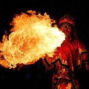 Fire breathing, Chengdu, China (May 2004)