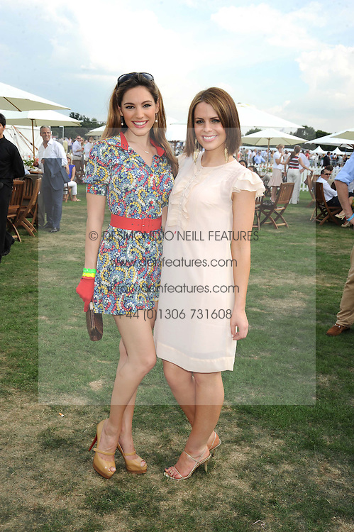 Left to right, KELLY BROOK and SUSIE AMY at the Cartier International Polo at Guards Polo Club, Windsor Great Park on 27th July 2008.<br /> <br /> NON EXCLUSIVE - WORLD RIGHTS