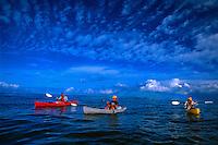 Sea kayaking from Makena Landing to Ahihi Bay, Maui, Hawaii USA