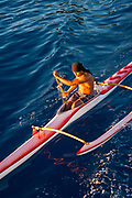 Outrigger Canoe, Vaitape, Bora, Bora, French Polynesia, South Pacific