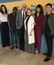 June 20, 2018 - Los Angeles, California, USA - 6/19/18.D''Arcy Carden, William Jackson Harper, Ted Danson, Kristen Bell, Jameela Jamil and Manny Jacinto at the Universal Television Network For Your Consideration Event for ''The Good Place'' held at the UCB Sunset Theatre in Los Angeles, CA. (Credit Image: © Starmax/Newscom via ZUMA Press)