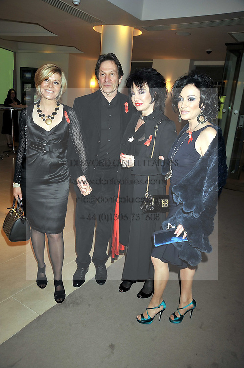 Left to right,  Glynis Barber, Michael Brandon, Cheryl Howard & Nancy Dell'Olio at the Lighthouse Gala Charity Auction in aid of the Terrence Higgins Trust held at Christie's, St.James' London on 23rd March 2009.
