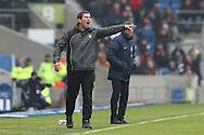 Burton Albion manager Nigel Clough during the EFL Sky Bet Championship match between Brighton and Hove Albion and Burton Albion at the American Express Community Stadium, Brighton and Hove, England on 11 February 2017.