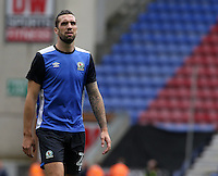 Blackburn Rovers' Shane Duffy during the pre-match warm-up <br /> <br /> Photographer David Shipman/CameraSport<br /> <br /> Football - The EFL Sky Bet Championship - Wigan Athletic v Blackburn Rovers - Saturday 13th August 2016 - DW Stadium - Wigan<br /> <br /> World Copyright © 2016 CameraSport. All rights reserved. 43 Linden Ave. Countesthorpe. Leicester. England. LE8 5PG - Tel: +44 (0) 116 277 4147 - admin@camerasport.com - www.camerasport.com